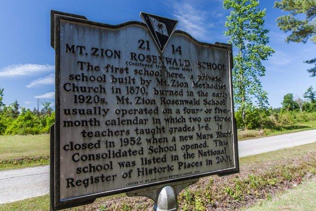 Mt Zion Rosenwald Marker
