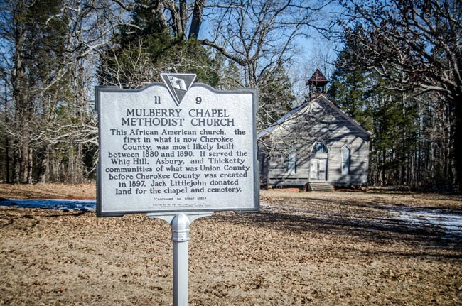 Mulberry Chapel Historic Marker