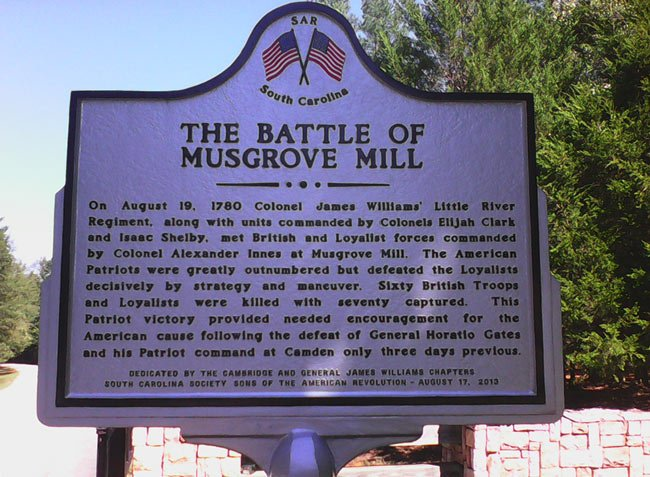 Musgrove Mill Historical Marker