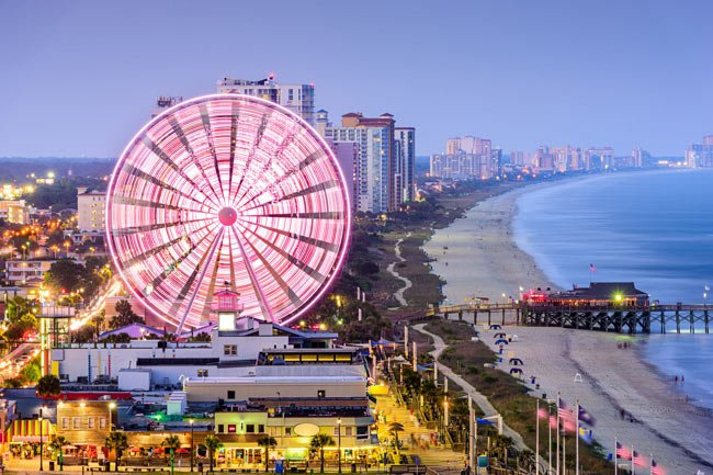 Myrtle Beach Ferris Wheel This Image Is Copyrighted You May Not Use It Without Written Consent