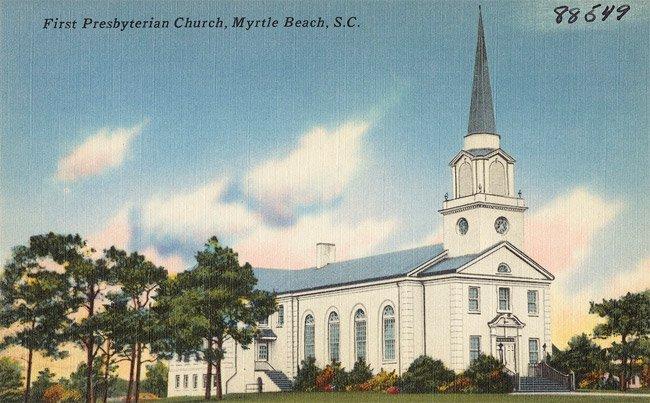 Myrtle Beach Presbyterian Postcard