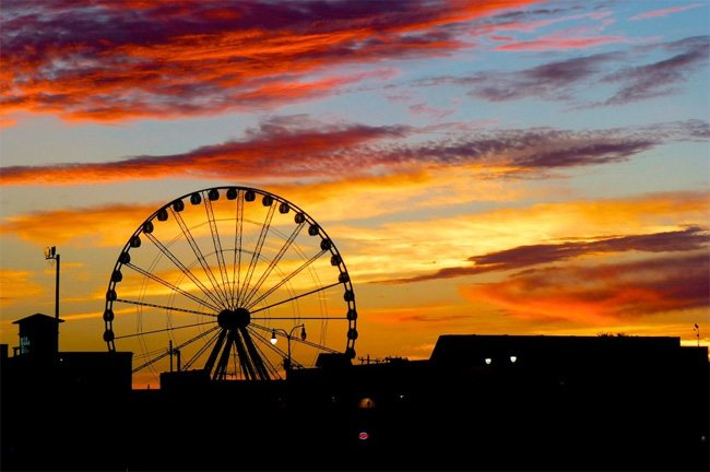 Myrtle Beach Skywheel Evening
