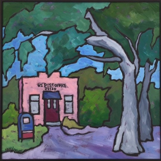 Nancy Orcutt Painting Adams Run Post Office