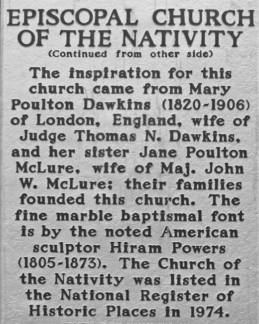 Nativity Church Marker Back