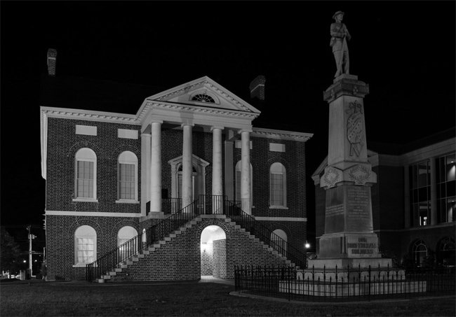 Old Lancaster Courthouse Night