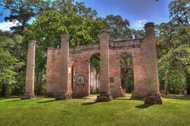 Old Sheldon Church Ruins