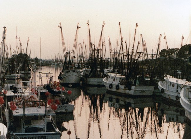 Shem Creek in the 1970s