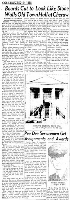 Old Town Hall Cheraw Clipping