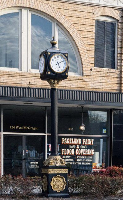 Pageland Town Clock