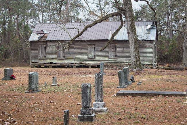 Palmer School as seen from Palmer Cemetery