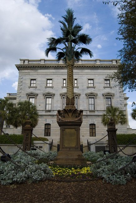 SC Statehouse - Palmetto Tree Statue