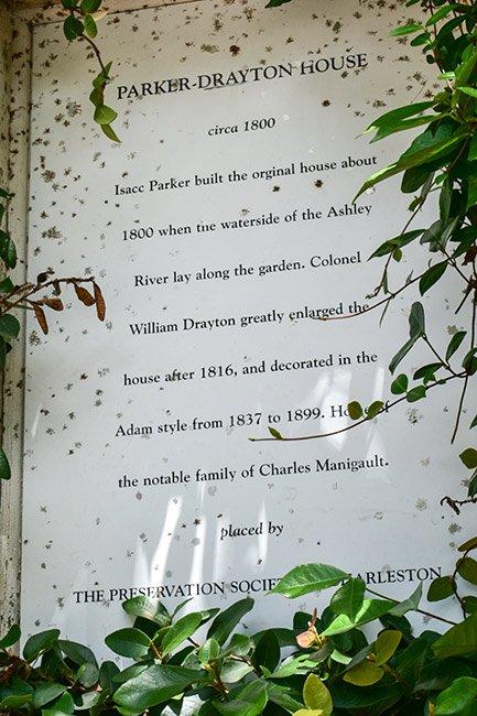 Parker Drayton House Sign