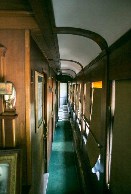 Passenger Car Hallway Greenwood Museum