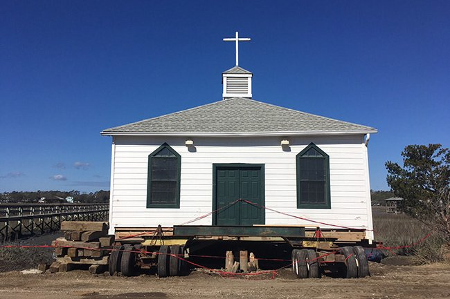 Pawleys Island Chapel Moving
