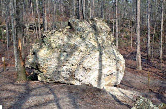 Peachtree Rock Fallen
