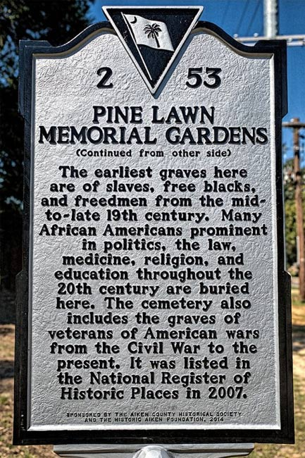 Pine Lawn Cemetery Marker