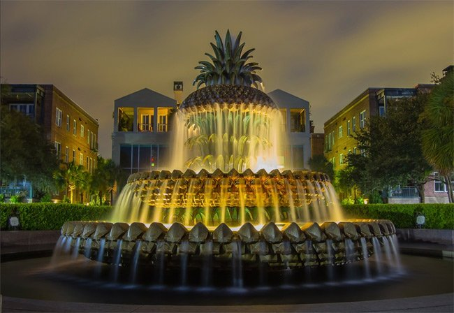 Pineapple Fountain Charleston Park