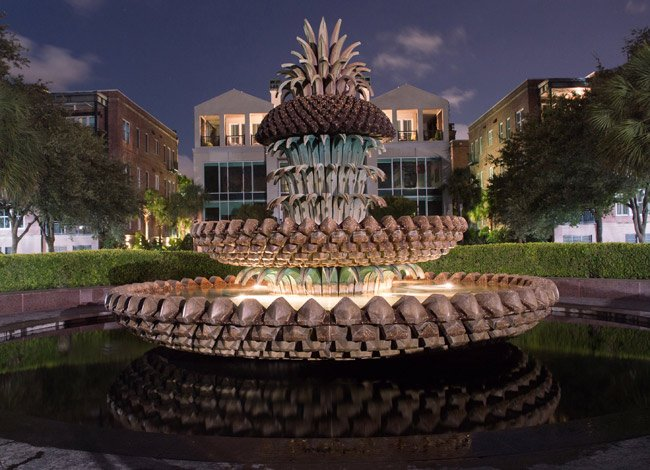 Pineapple Fountain Turned Off