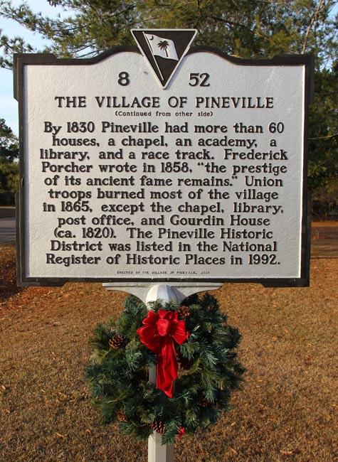 Pineville Church Marker