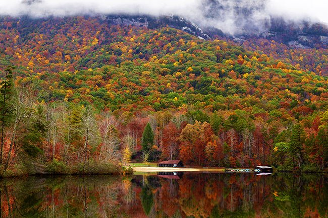 Pinnacle Lake in Autumn, SC