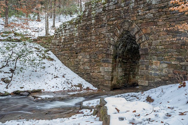 Poinsett Bridge Winter in Snow