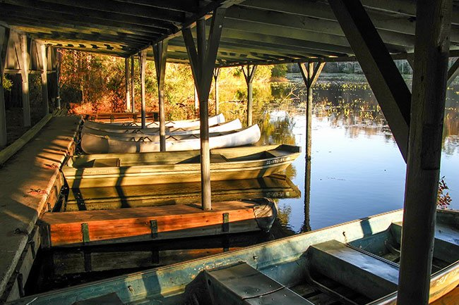 Poinsett State Park Lake Boat Shed