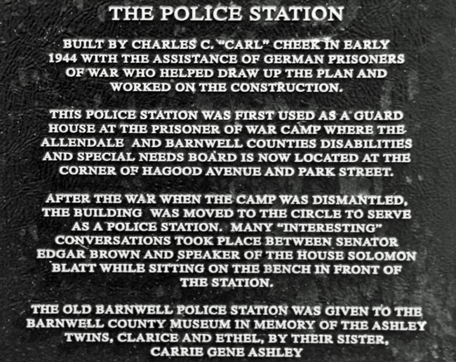 Police Station Plaque