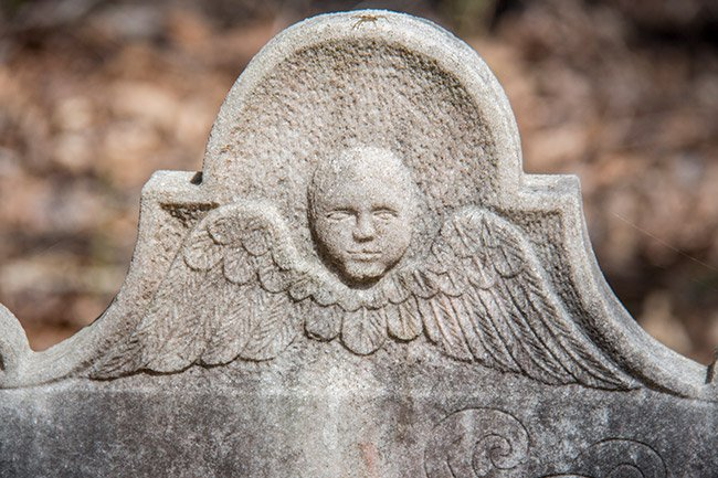 Tombstone Detail Pon Pon Chapel