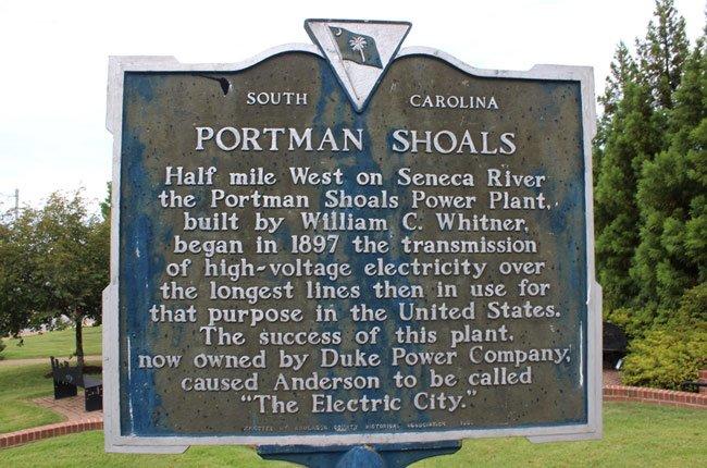 Portman Shoals Marker
