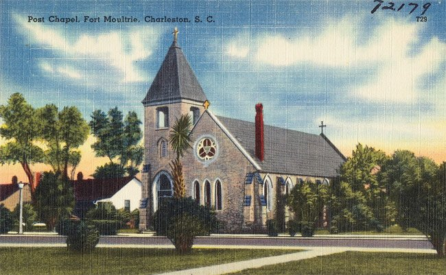 Post Chapel Sullivan's Postcard