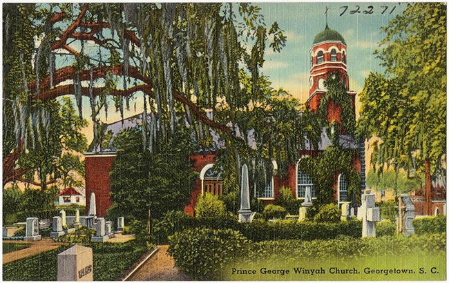 Postcard View, Prince George Winyah Church