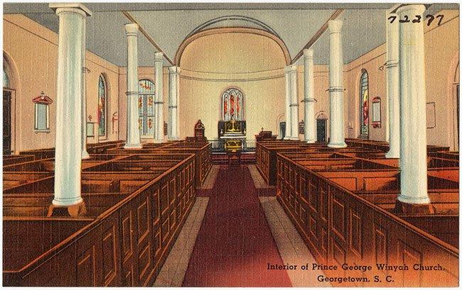 Postcard View, Prince George Winyah Church