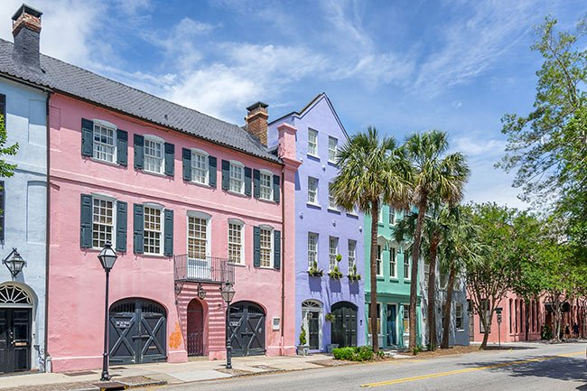 Image result for rainbow row charleston
