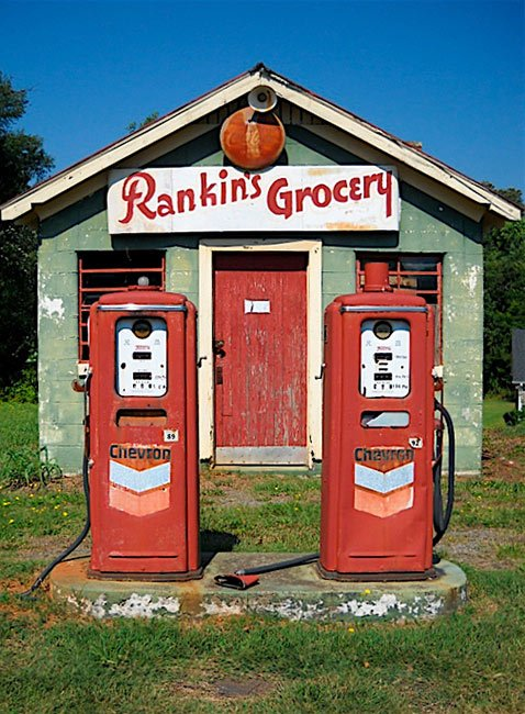 Rankin's Grocery Store with Gas Pumps