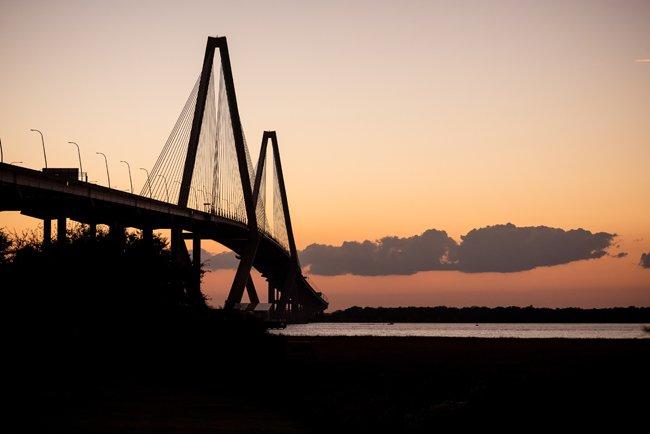 Ravenel Bridge Dusk
