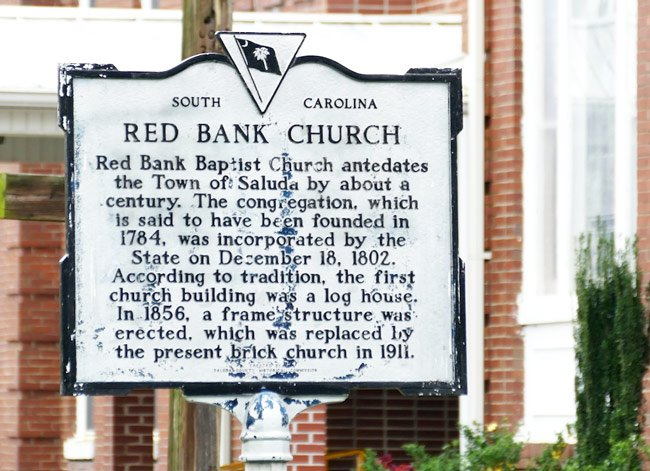 Red Bank Church Marker
