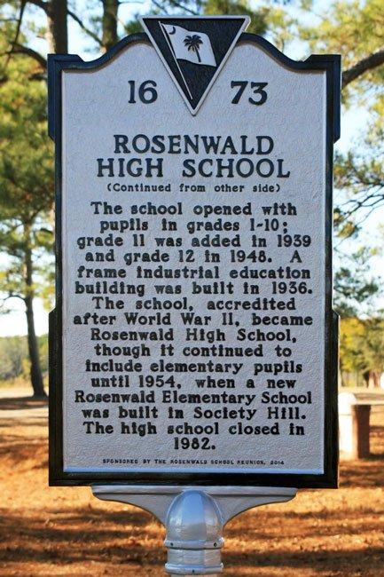 Rosenwald Society Hill Marker