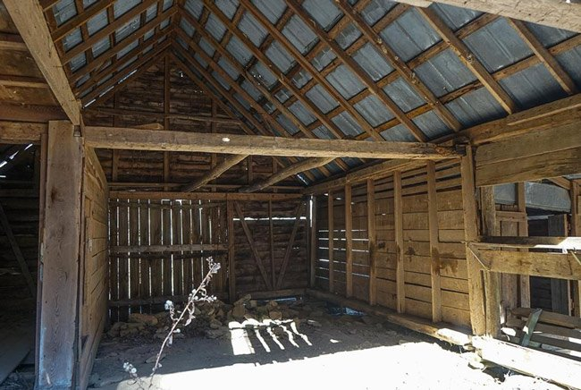Russell Farmstead Barn Interior