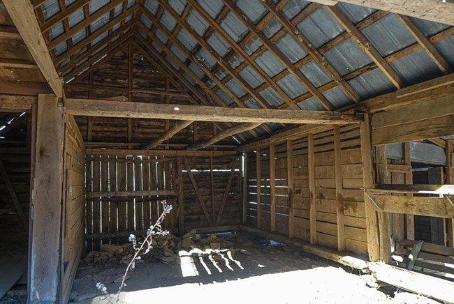 Russell Farmstead Barn Interior