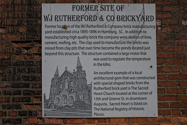 Rutherford Brickyard Sign