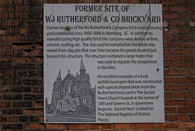 Rutherford Brickyard Sign