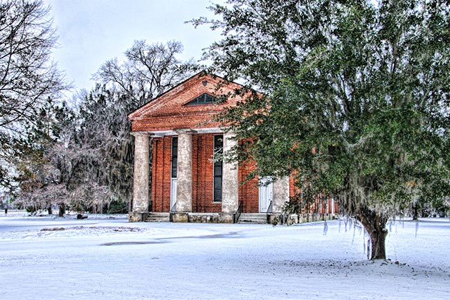 Salem Black River Presbyterian Church in Snow