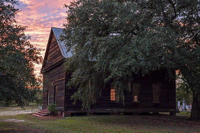 Sardis Church at Sunset, Branchville