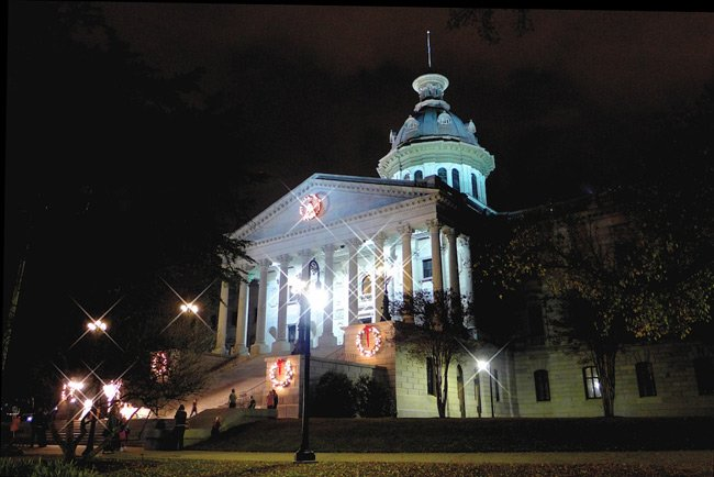 SC Capitol at Christmas
