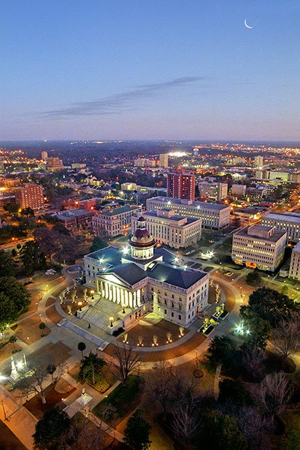 SC State House at Night, Columba