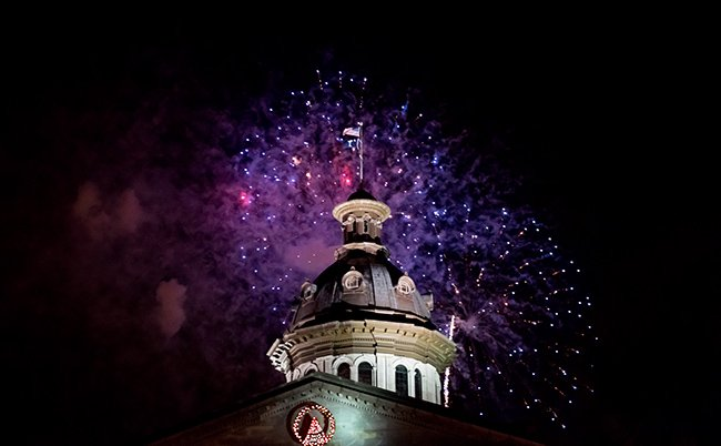 South Carolina Statehouse Fireworks