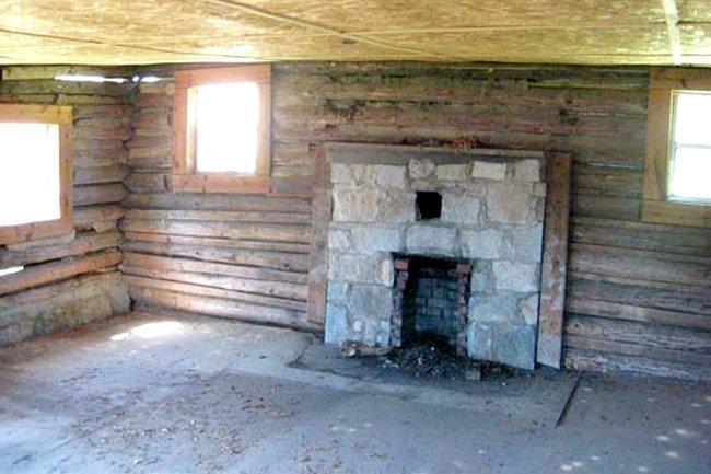 Senea Faith Cabin Library Fireplace