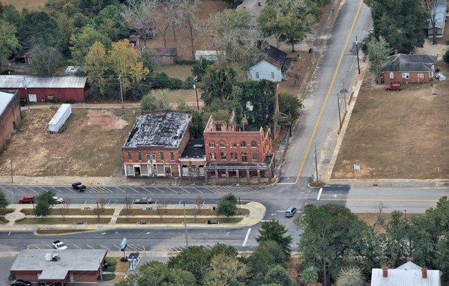 Shamrock Hotel Aerial
