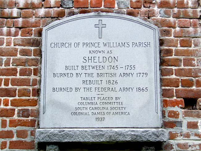 Sheldon Church Ruins Marker