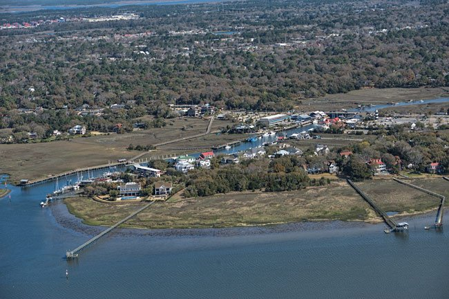 Shem Creek Mt. Pleasant Aerial
